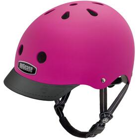 Nutcase Street casco per bici rosa